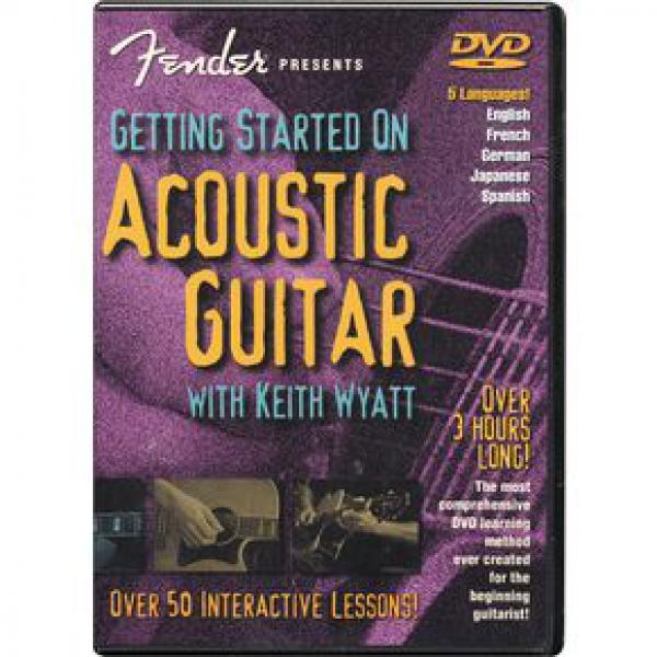 Fender Get Started Acoustic DVD disks