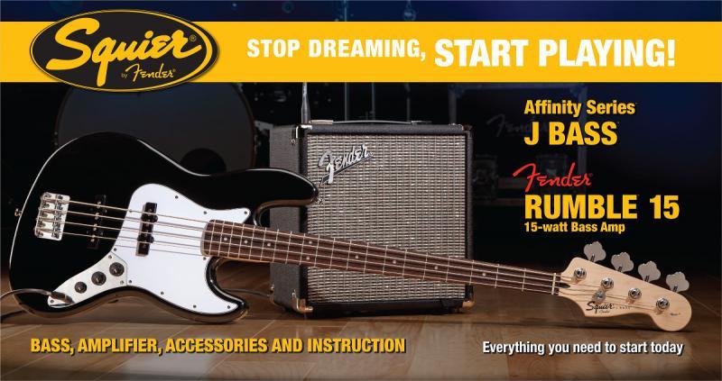 Fender Squier PK Jazz Bass R15V3 basģitāras komplekts