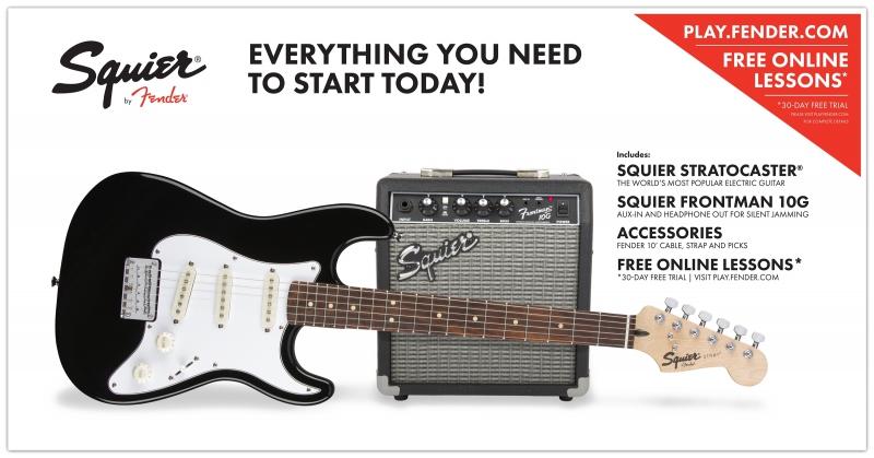 Fender Squier Strat SS Pack elektriskās ģitāras komplekts