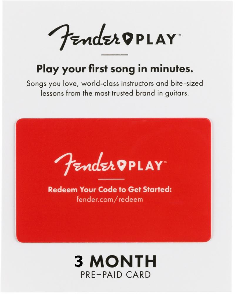 Fender Play 3 mēnešu karte