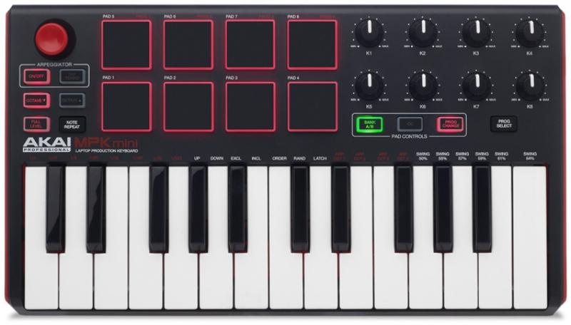 AKAI MPK Mini MK2 MIDI klaviatūra