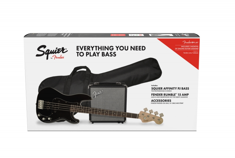 Fender Affinity Series Precision Bass  PJ Pack, Laurel Fingerboard, Black,